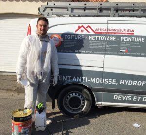 Artisan Monsieur Jean couvreur spécialiste rénovation de l'habitat, nettoyage, peinture, démoussage, façade, Brignoles, Lorgues, draguignan